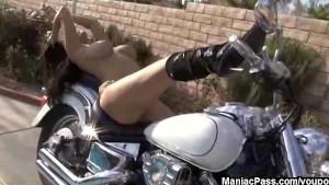 Dildoing on a cool bike