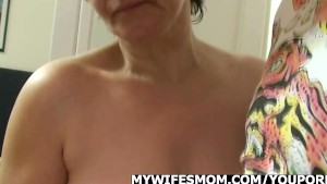 Wife goes wild when finds him fucking her mom