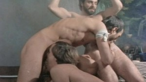"Shackled George Payne is ""serviced"" in classic gay porn CENTURIANS OF ROME (1981)"