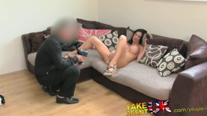 FakeAgentUK Smoking hot babe with attitude is back for more couch action