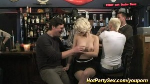 blonde banged at the party