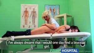 FakeHospital Intense sexual encounter between bisexual patient and blonde nurse