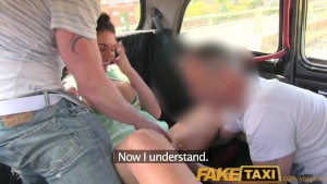 FakeTaxi Outrageuos hardcore threesome in the back on a London taxi