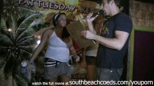 hot real college girls doing wet tshirt contest on spring break south beach florida