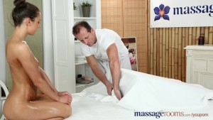 Massage Rooms Stunning tanned teen has her young hole fucked hard