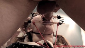 Anal puppet girl says FUCK MY MOUTH when her string is pulled