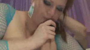 BBW In Fishnets Julie Moorse Fucked