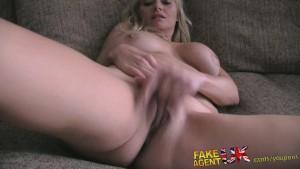 FakeAgentUK Stateside blonde MILF looking for hardcore porn in UK