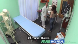 FakeHospital Sweet Doctor gives Valentine's flowers to hot patient