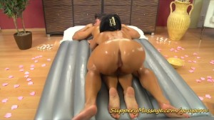 caling for slippery nuru massage with happy end