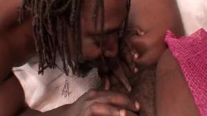 BBW ebony slut gets licked
