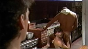 Kitchen Threeway from Vintage Gay Porn SEX LUNCH (1985)