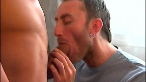 Ricardo's huge cock gets sucked by our photographer despite of himself.