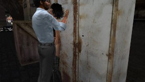 Fred Adjani qui se tape Aude en mini jupe collant dans un sale quartier