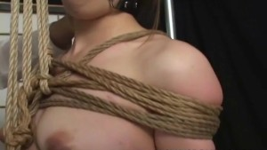Tied up Asian in perfect rope knots treated to bdsm session