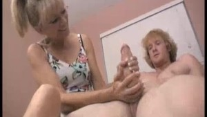 Grandma s Always Been Sneaking On Young Guy s Masturbation