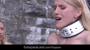 Rough spank poured hot wax and whipping for four slaves