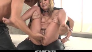 Kokoa Ayane makes magic during harsh threesome porn show