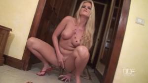 Gorgeous Euro star Sandra Shine cums on a Big Cock