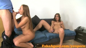 FakeAgent Two horny friends will do anything for a job part 1