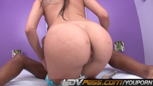 Selena Skye Trying Big Horse Pole
