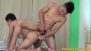 Dildo analplaying asian twinks bareback banging