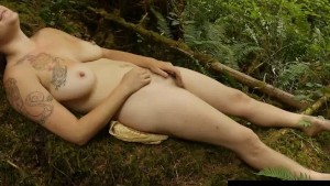 Busty Misty Masturbate Outdoors