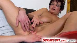Pussy fingering close-ups of older woman Greta
