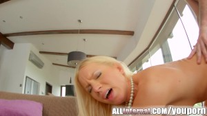 Allinternal horny blonde gets fucked hard doggystyle
