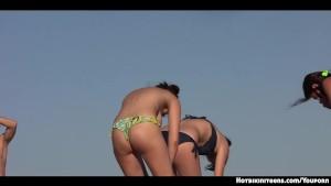 Hot Ass Bikini Girls Topless At the beach Voyeur Hd Video