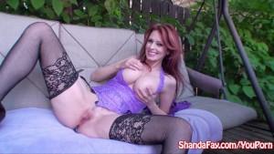 Kinky Milf Shanda Fay Fucks in the Backyard!