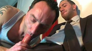 A innocent str8 guy serviced his big cock by a guy in spite of him!