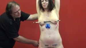 Amateur slave Beauvoir electro BDSM and sadomasochist video footage