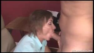 Angry Milf Slobbers And Sucks Young Cock