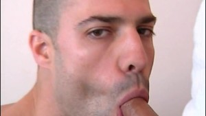 Full video: A innocent neighbour gets serviced his big cock by a guy!