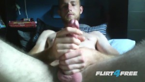 Horny Fuck Strokes His Huge Cock and Plays With His Ass