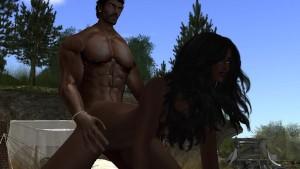 Un couple black entrain de faire l amour au bord de mer