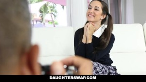 DaughterSwap - Naughty School Girls Fucked By Old Dads