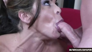 Young woman uses her pussy on a guys dick