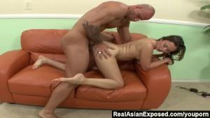 RealAsianExposed - Kita fucks and sucks but wants the load on her feet
