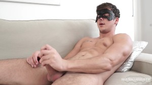 Maskurbate Masked Hunk Shows off Hard Cock