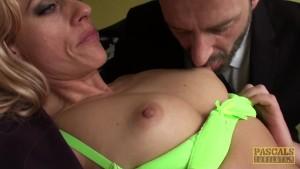 Pussy fingered brit enjoys rough treatment