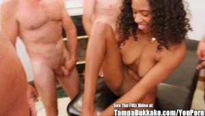Beautiful Big Tit Teen Banged by Bukkake Geysers