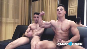 Muscular Ripped Studs Show Off Monster Cocks