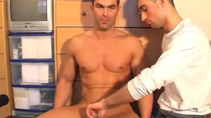Marc innocent straight guy serviced his big cock by a guy!