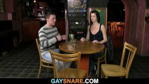 She watching gay barman drilling his hetero ass