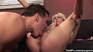 Dagfs - She fuck with her toy as he cums on her feet