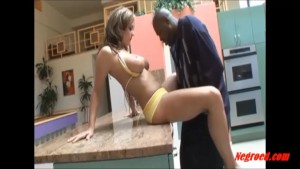 Dirty white tattoo girl taking big black negro cock up her asshole and cum in mouth