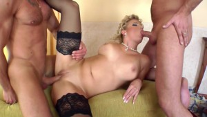 Sucking Jizz Out Of 2 Cocks - Hot Mess Ent