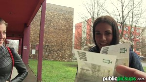 Mofos - Euro Chick Flashes Ass for Cash